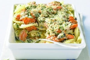 British-trout-and-Broccoli-Pasta
