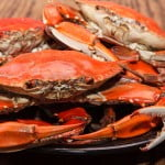 Crab and Loosehanger Blue Cheese Bake