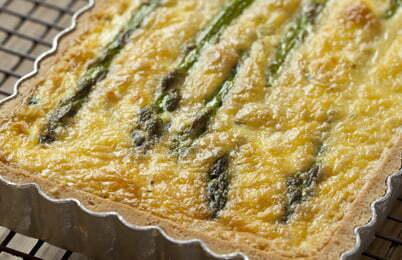 Asparagus n Goats Cheese Tart