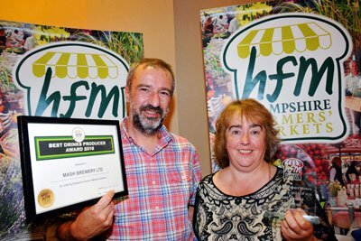 Graham and Sarah Turner of Mash Brewery won the award for Best Drinks Producer